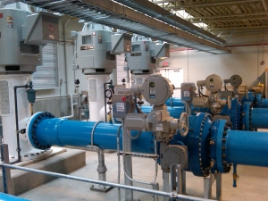 Actuators Support High Service Water Delivery Pump Station