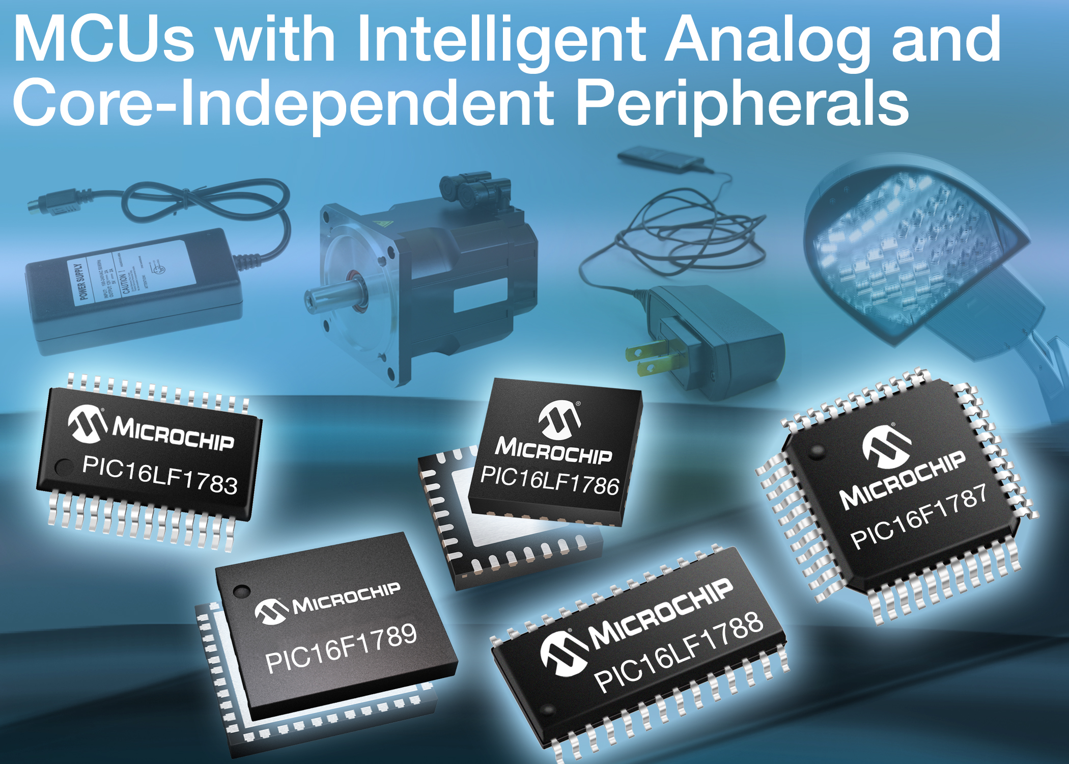 Microcontroller family with intelligent analogue integration