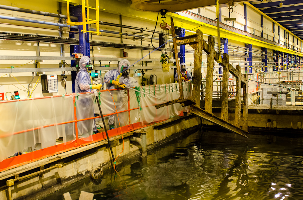 Contaminated Equipment Recovered From Nuclear Fuel Storage