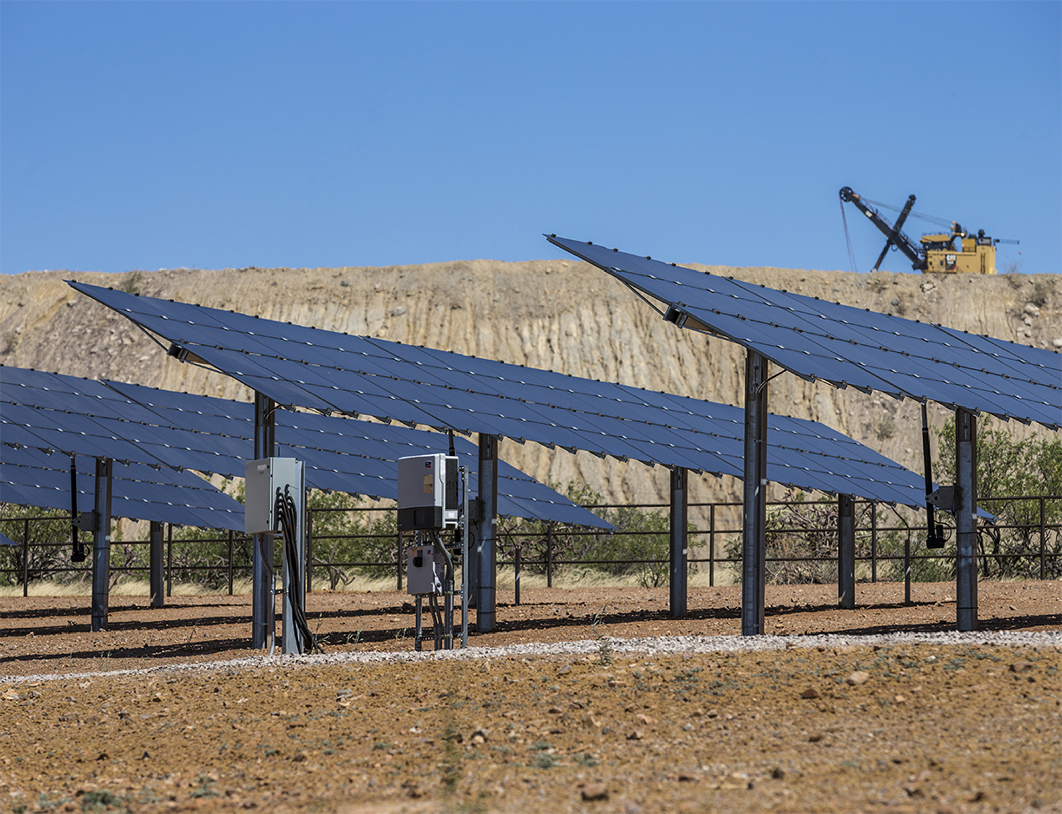 7MW solar power plant for mine in Namibia