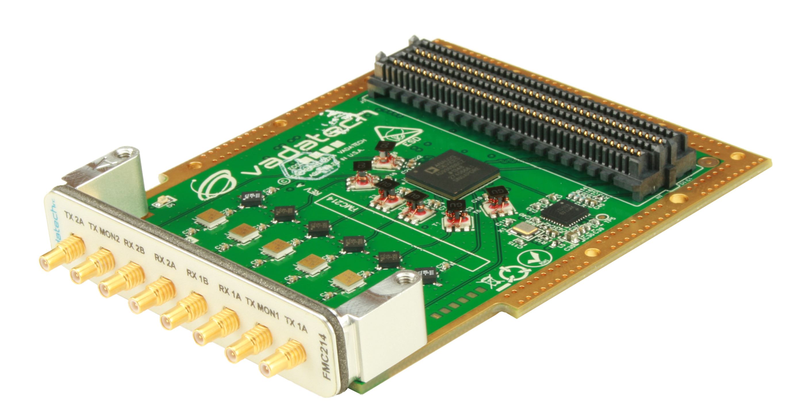 Dual Wideband Transceiver In Fmc Format Engineer Live Mixed Signal Vadatech Has Launched A The Fpga Mezzanine Card For Embedded Designs