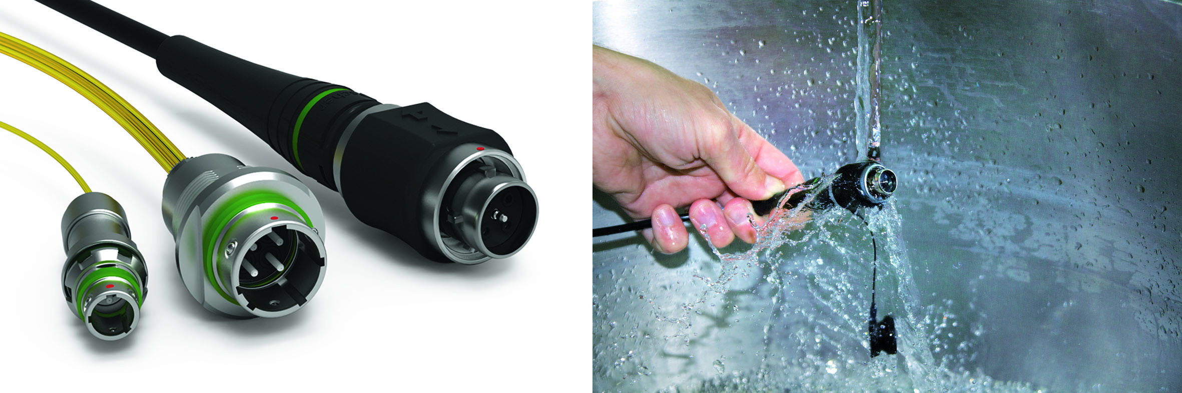Fischer Connectors' optical connectivity solutions are also rugged: IP68 sealing easy use, cleaning and maintenance.