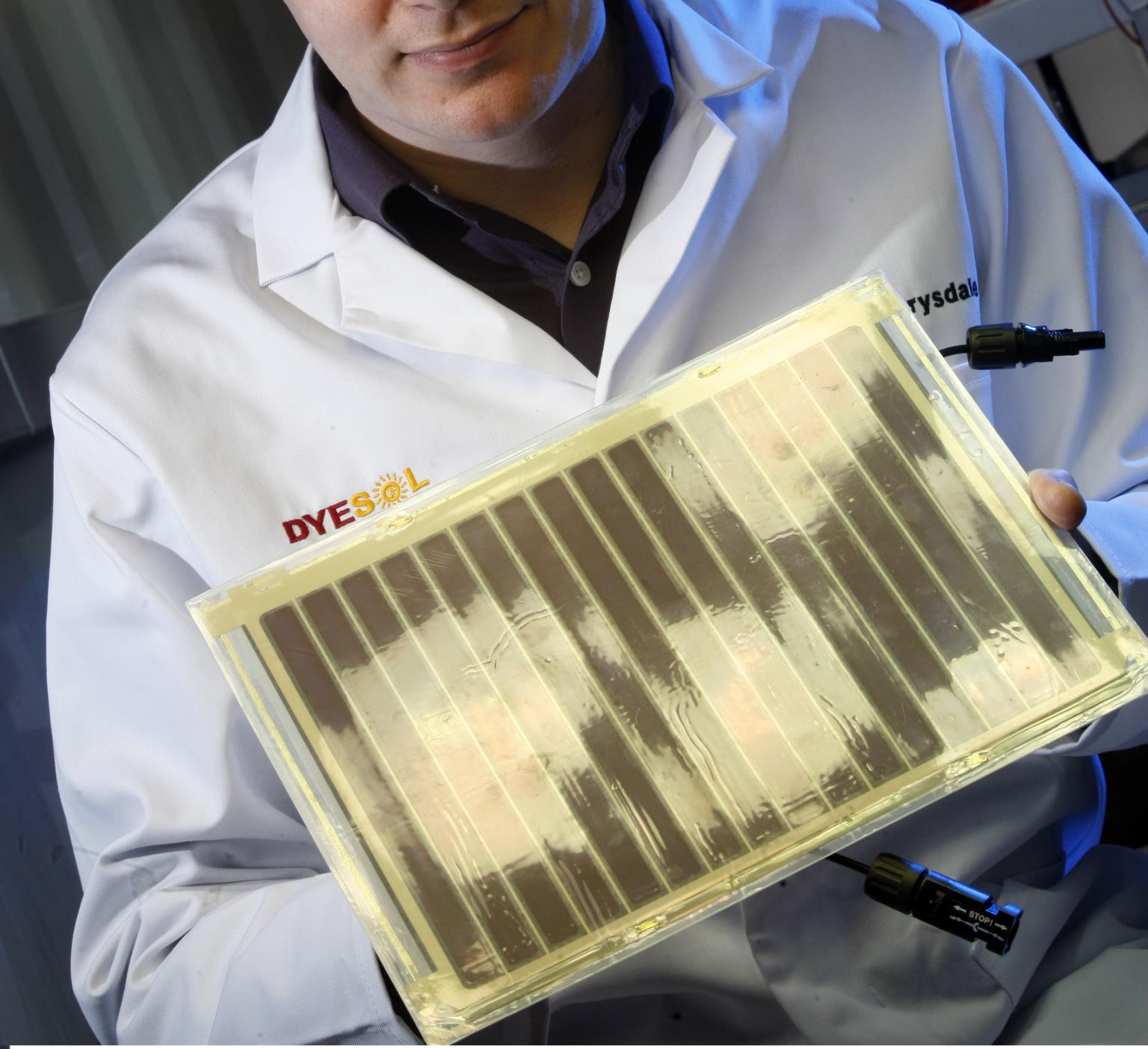 Dyesol produces solid-state dye-sensitised solar cells