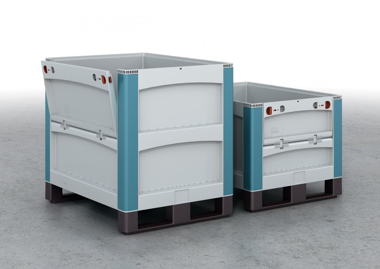 BITO's heavy-load containers can accommodate a load of 500kg. They can be adapted to suit individual requirements by means of different design variants and options