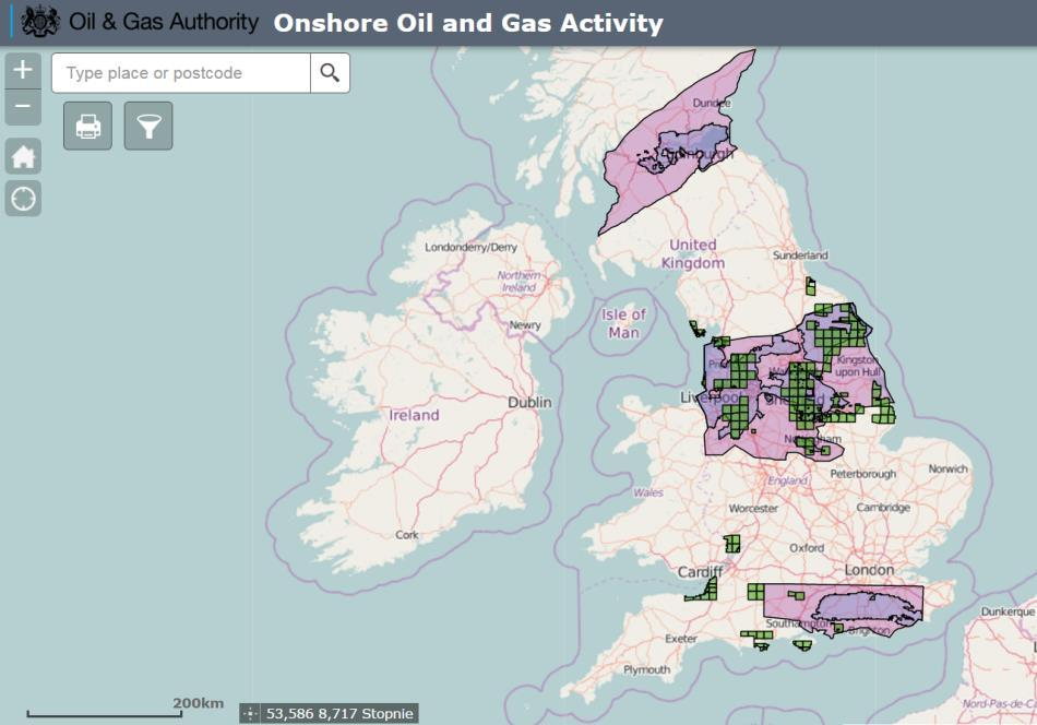 UK shale prospective areas and 14th licensing round awarded blocks  (source: UK Oil & Gas Authority)