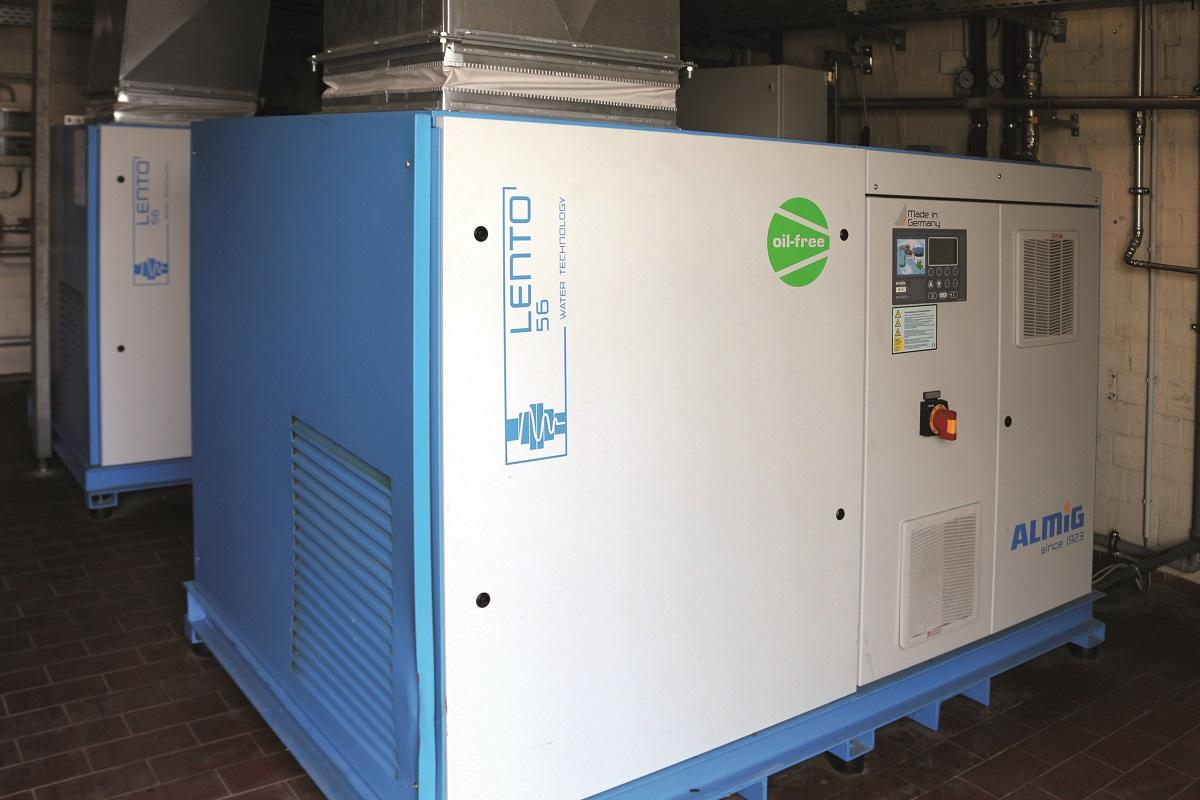 Bad Meinberger uses oil-free, water-injected screw compressors from ALMIG's Lento series