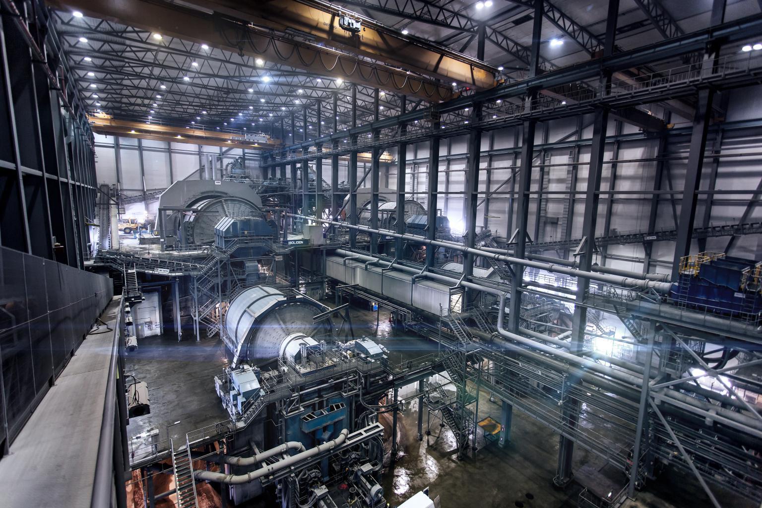 Metso grinding mills in Aitik concentrator, Boliden