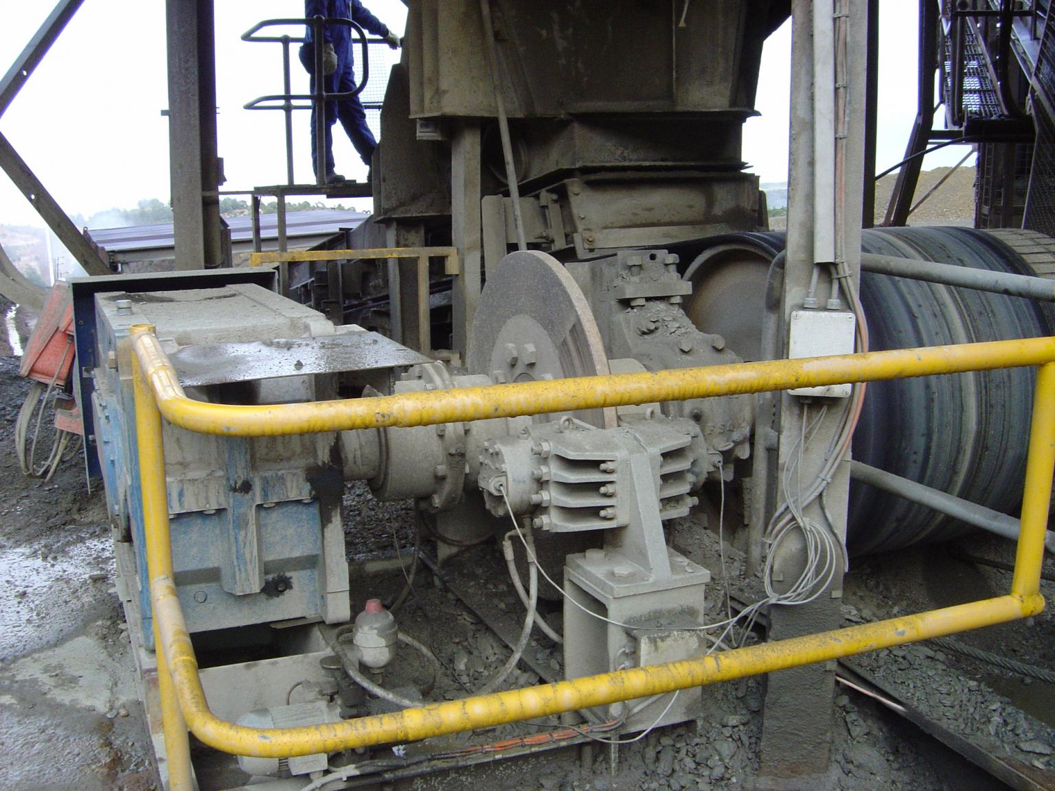 Twiflex, VS180 spring applied, hydraulic released brake units fitted to an overland coal conveyor in West Virginia