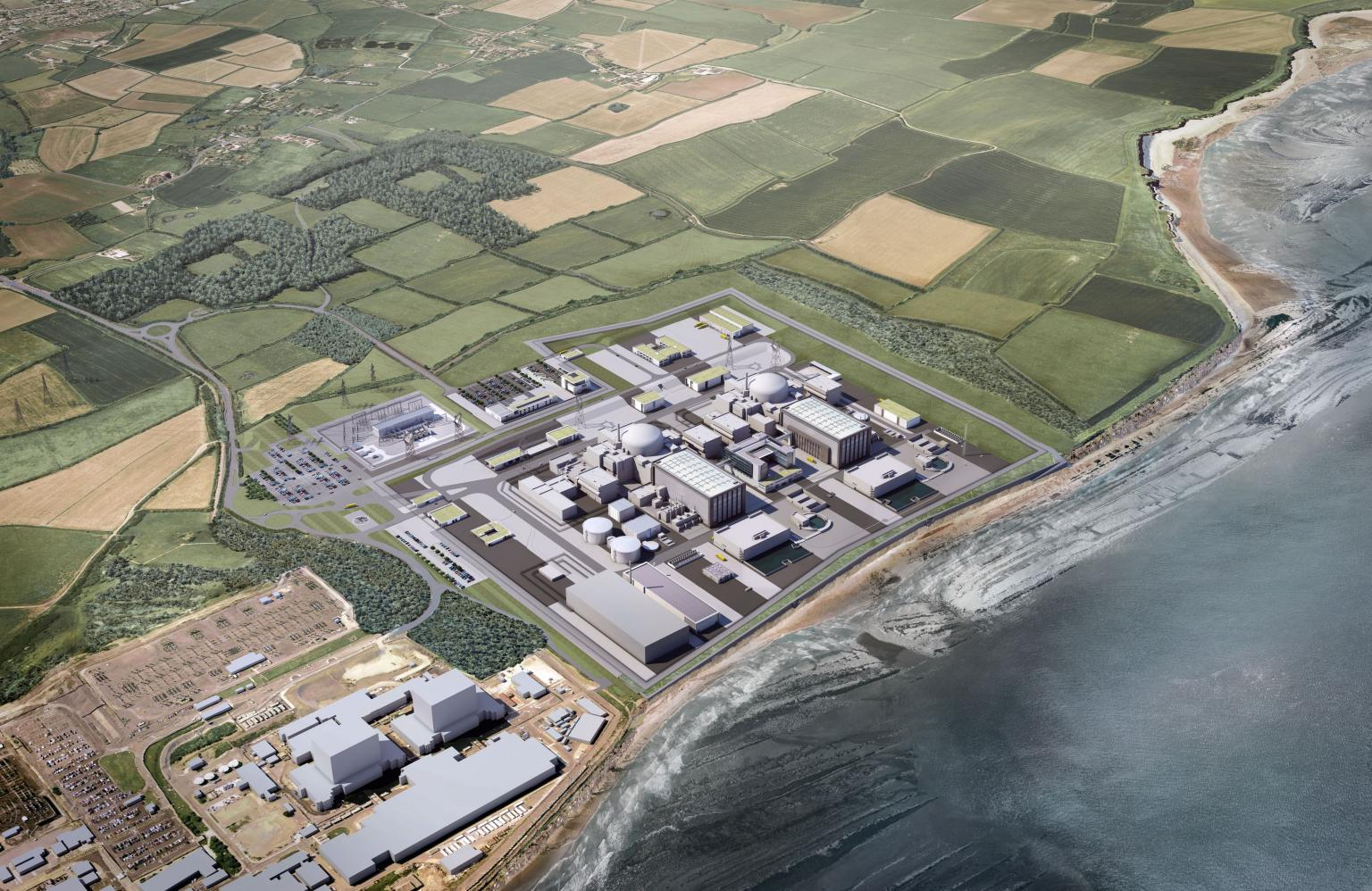An artists' impression of Hinckley Point C