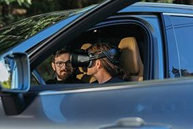 Safety experts are able to drive real cars while wearing the XR-1 headset