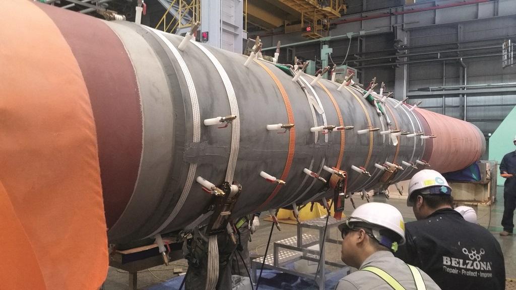 Bearing bonding in action - to riser tube