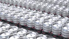 Kegs leaving tunnel after pickling with nitric-acid free Bonderite C-CP 1300