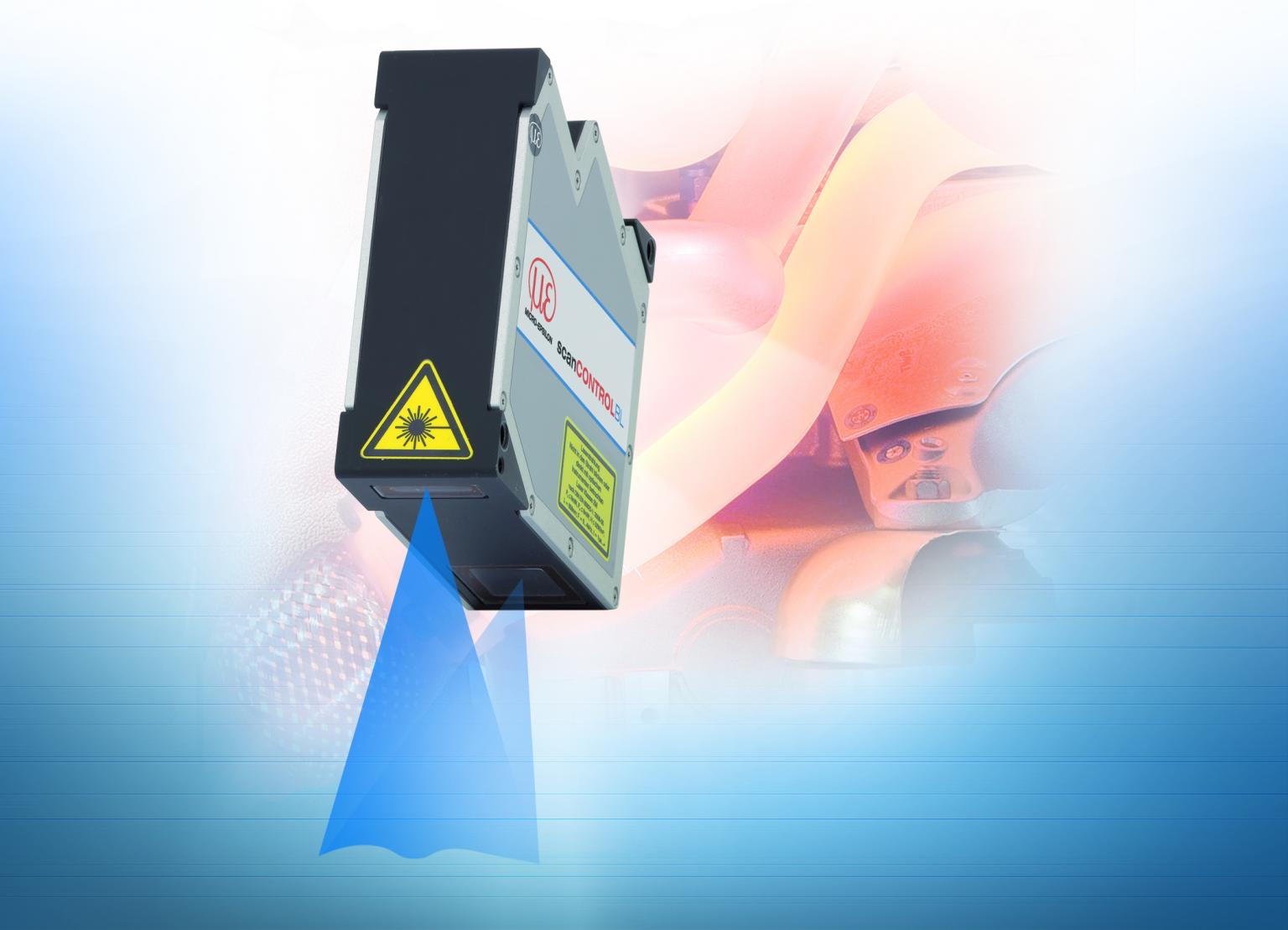 The Blue Laser technology is also used with laser profile scanners
