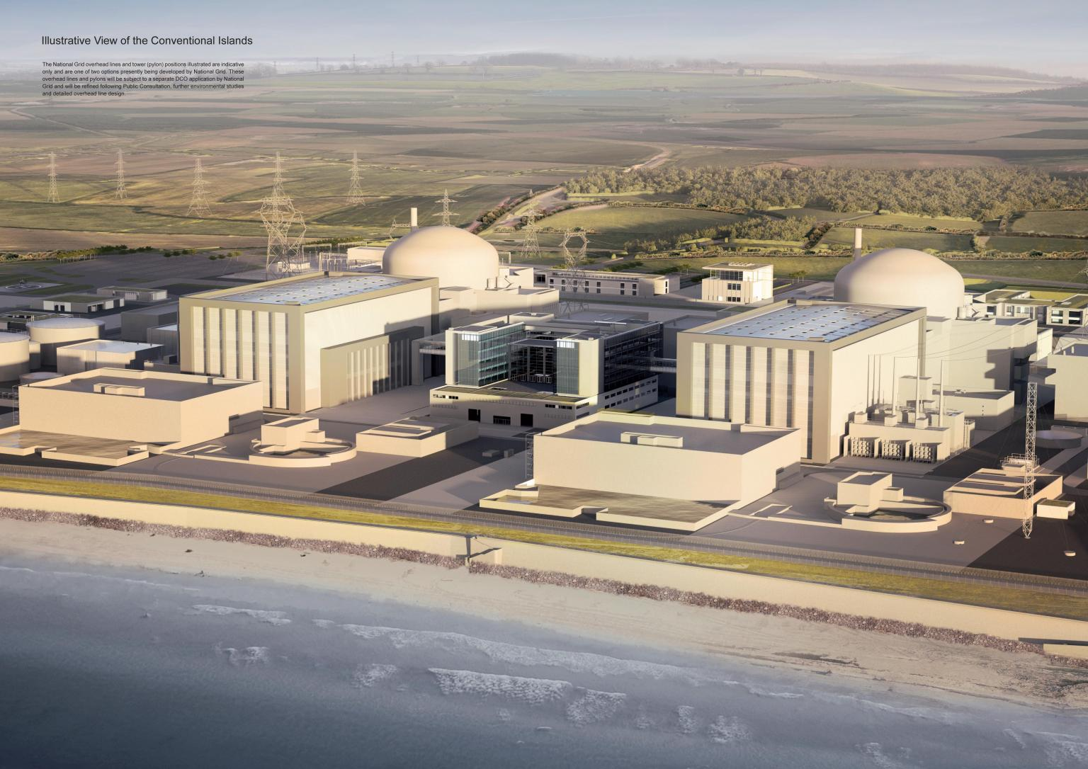 CGI view of Hinckley Point C