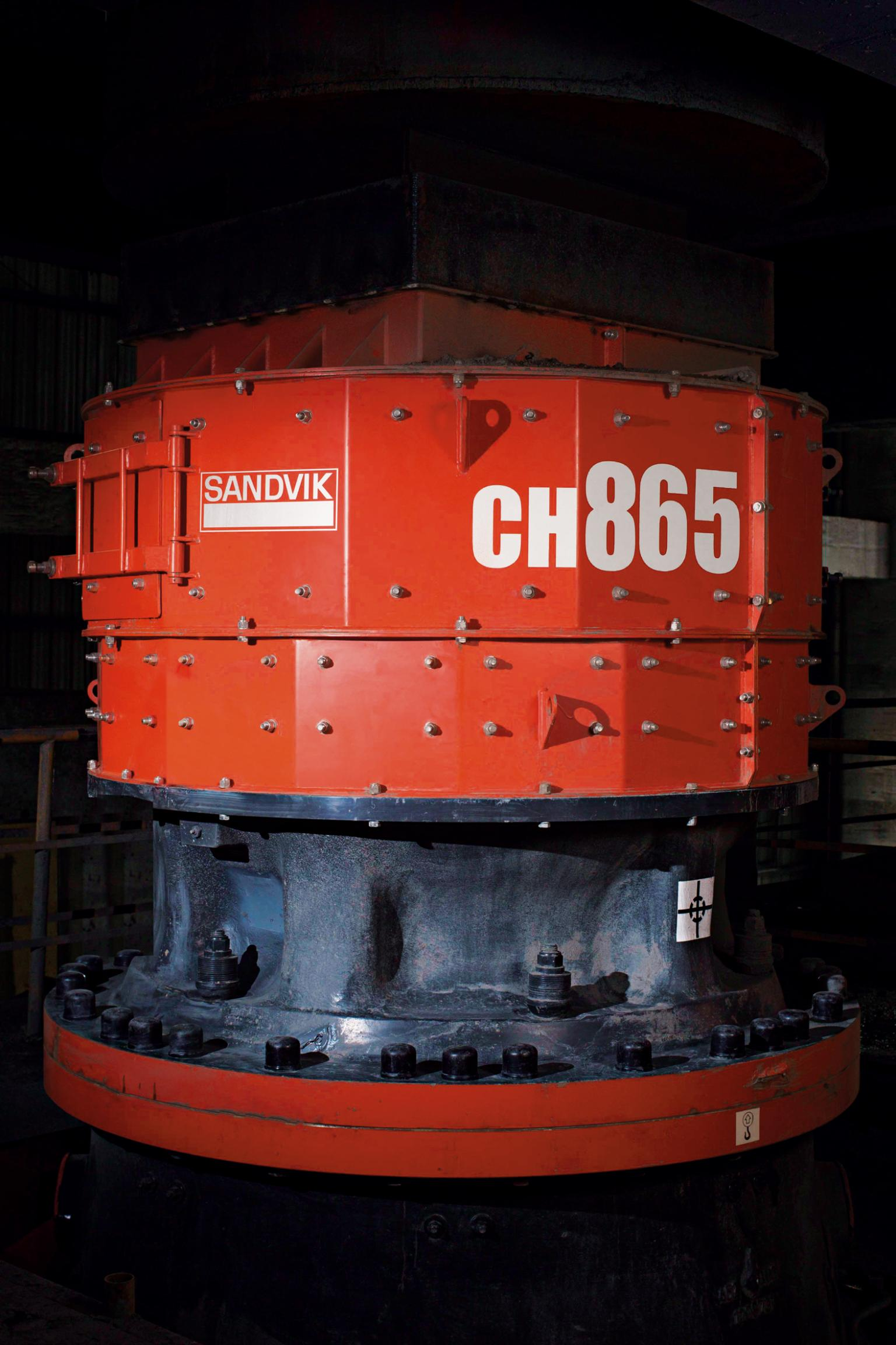 Sandvik Mining has added to its existing CH800 range with two more cone crushers.  The CH860 is designed for high-capacity secondary crushing while the CH865 is designed for high-reduction tertiary and pebble applications utilising higher forces