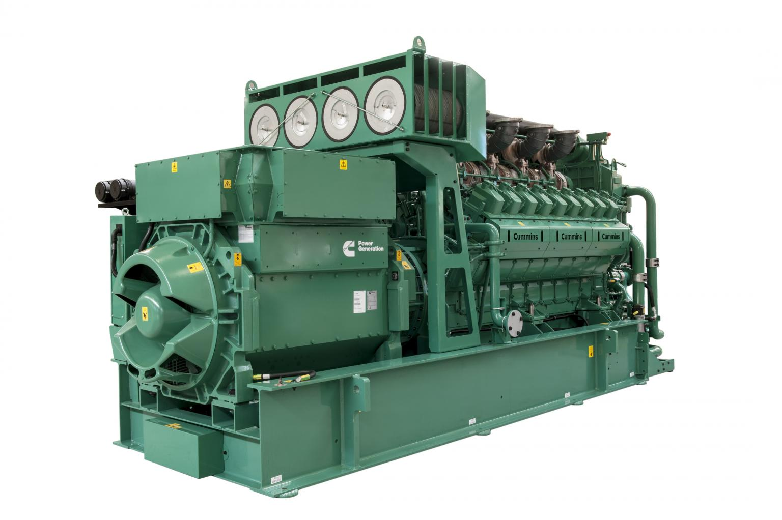 Cummins Power Generation launches new lean-burn gas generator set product line. This is the latest 2MWe model