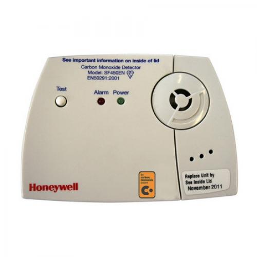 A carbon monoxide alarm from Honeywell