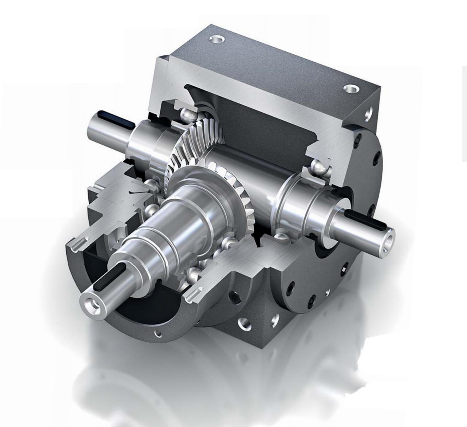 Design features that set PowerGear Miniature apart from other gearboxes include a case-hardened bevel gear tooth system, a friction locked shaft and bevel gear fit and an extremely lightweight aluminium housing. This ensures low backlash and high transmission accuracy alongside an energy efficiency of 98%
