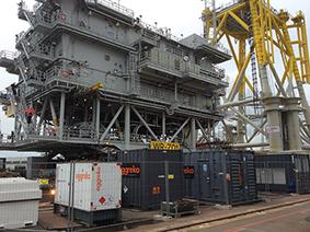 Aggreko generators used in an offshore project