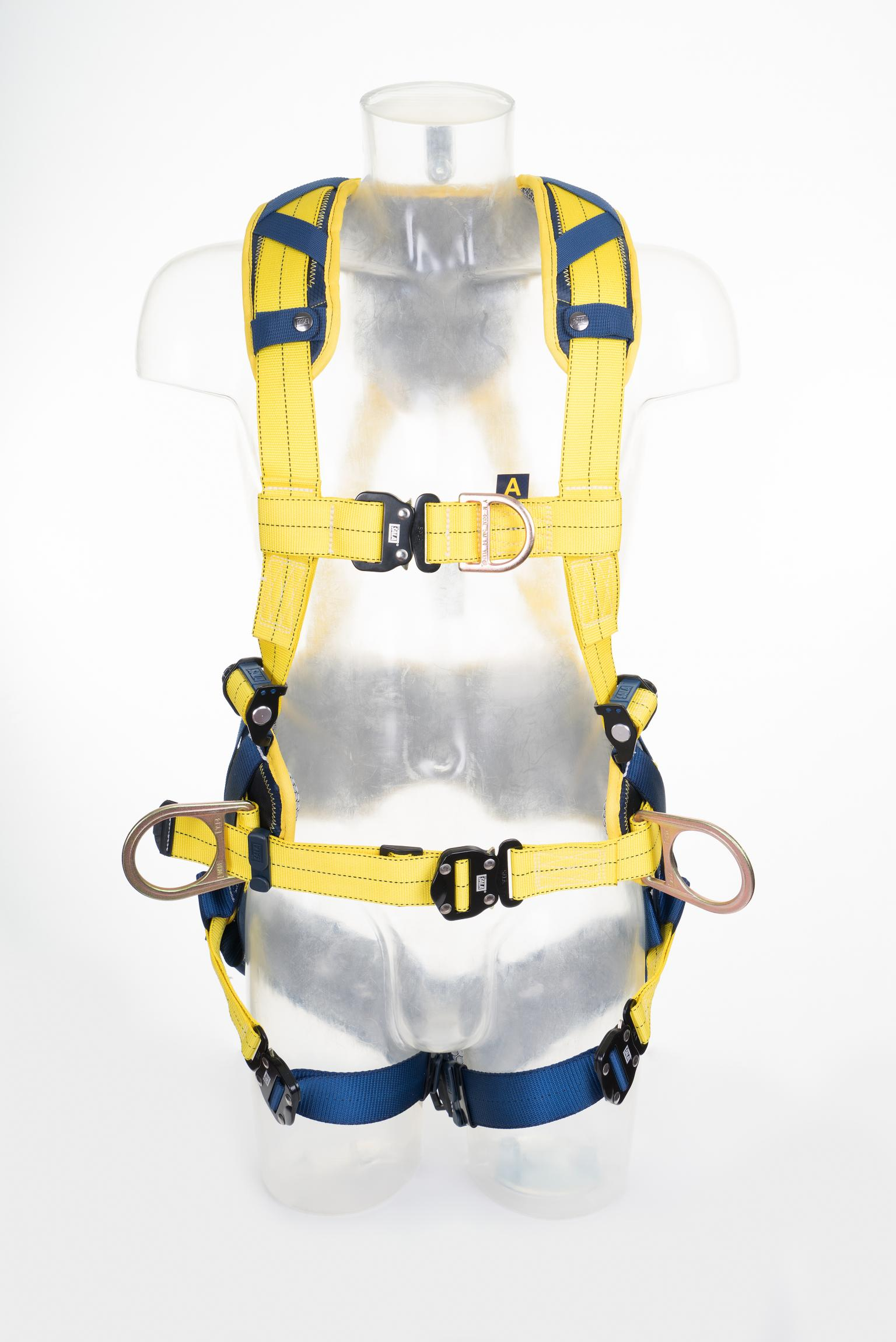 Delta Comfort harnesses from Capital Safety feature shoulder, back and leg padding, coated, corrosion-resistant hardware, and abrasion-resistant webbing