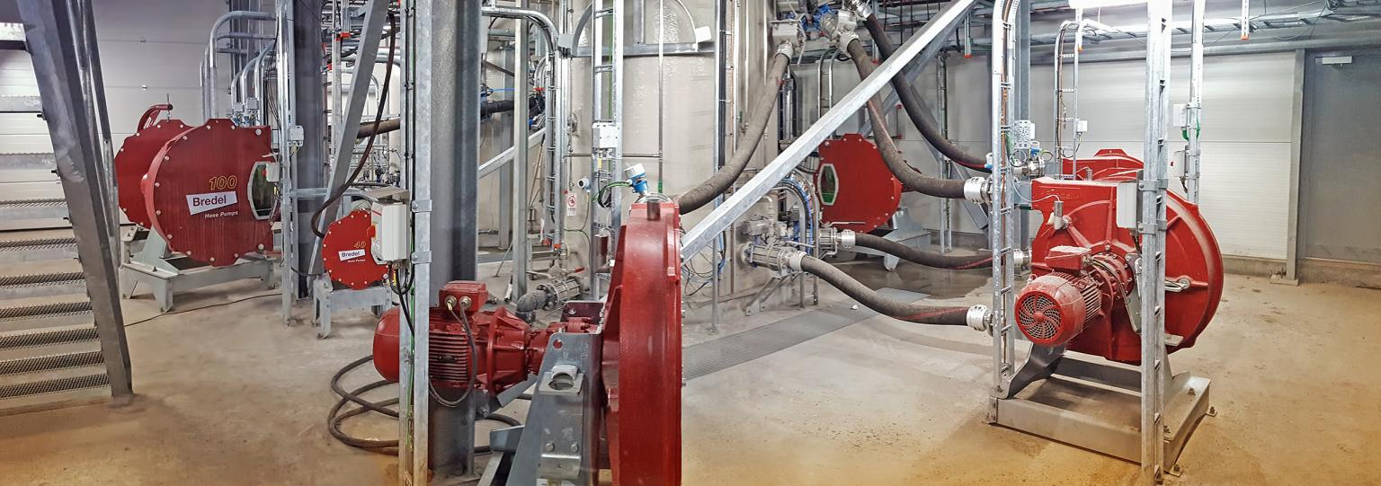Several Bredel 40 pumps are used in the Danish installation
