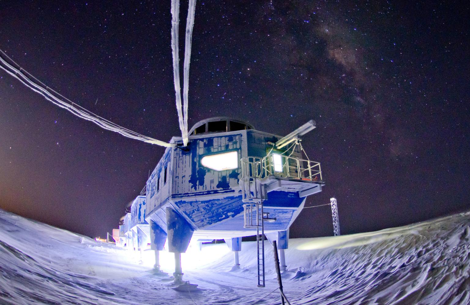 Structures destined for the Antarctic must be designed to withstand prevailing winds of up to 90 miles per hour and an average external temperature of –30ºC with an extreme minimum of -56ºC (Photo Credit: British Antarctic Survey)