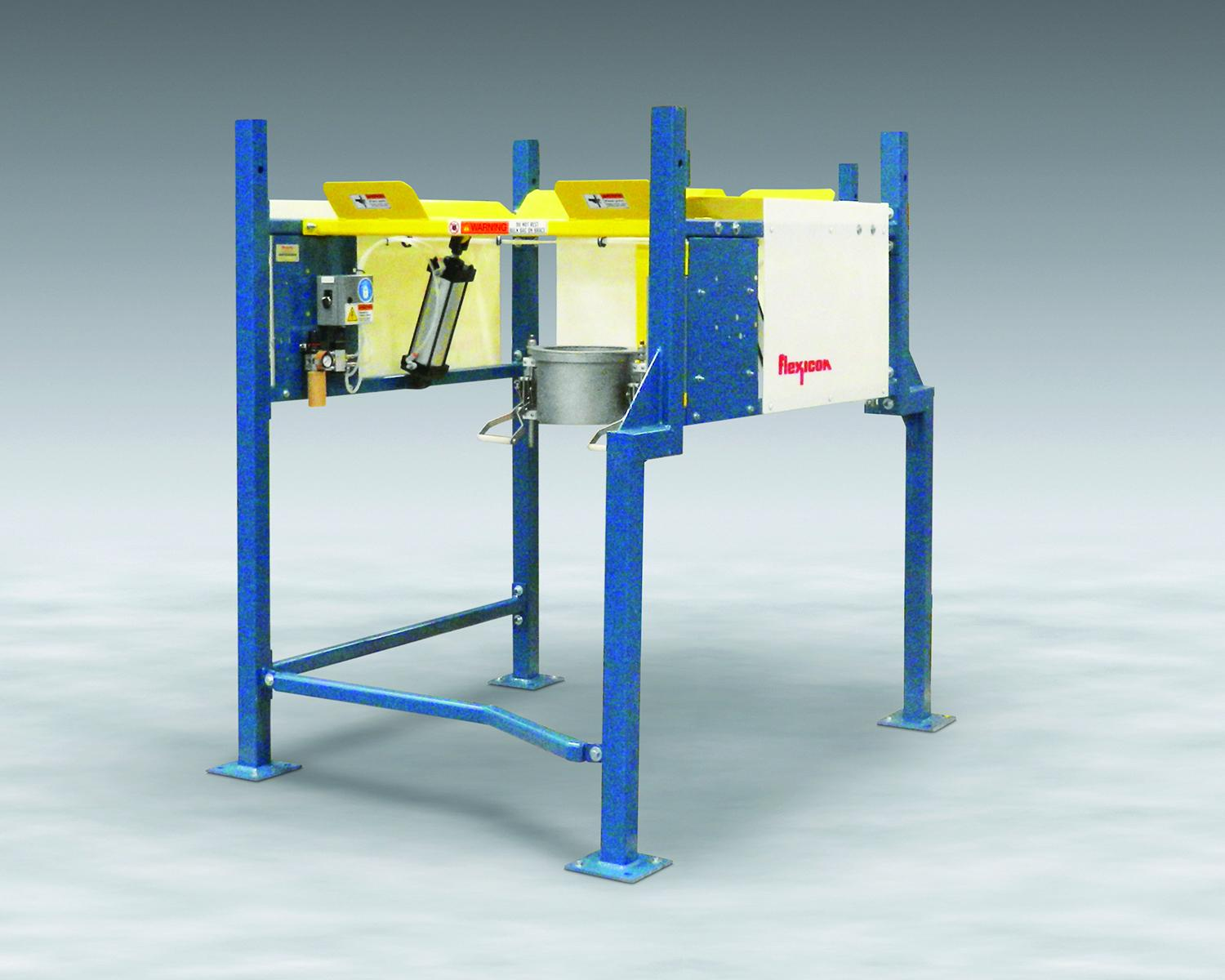 The variable height and offsets of low profile BULK-OUT Half-Frame Dischargers allow dust-free evacuation of bulk bags in restricted spaces at low cost