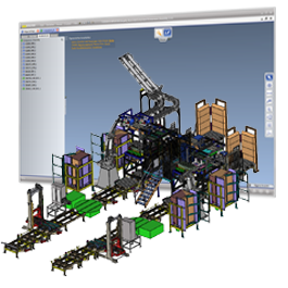 Easy handling and significant data reduction of large 3D models as a factory in 3D_Evolution