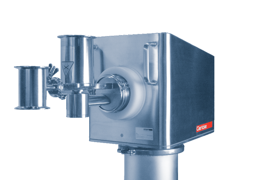 Gericke self-cleaning twin screw extruder for low capacity applications, especially well-suited to materials with poor flow characteristics
