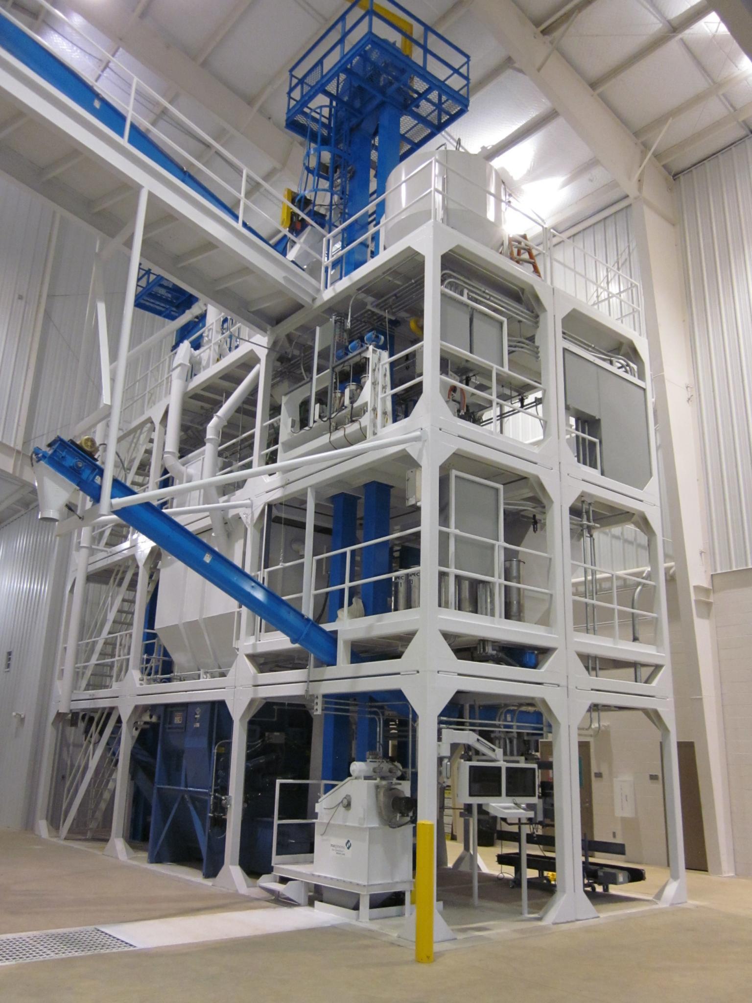 The custom feed mill at Auburn University