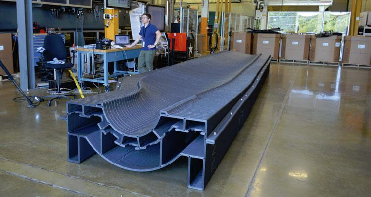 Figure 2: AM mould for wind turbine blades [10].