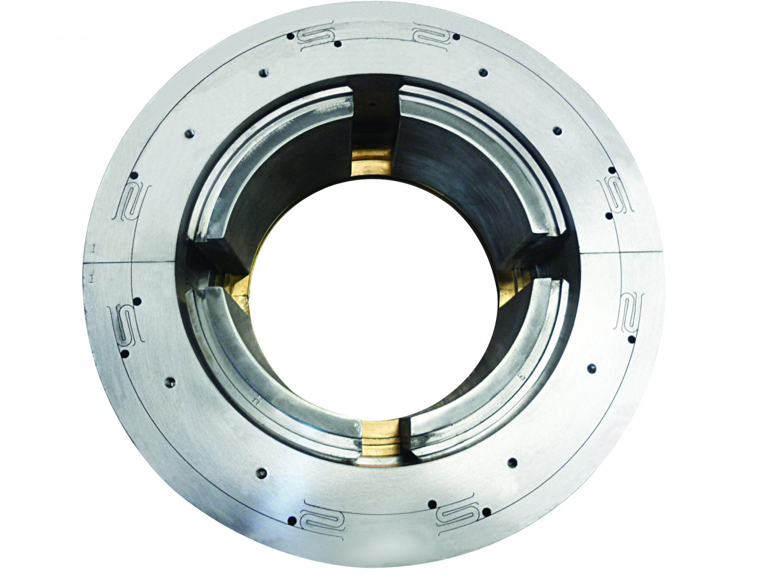 4-pad tilt pad journal bearing with ISFD technology