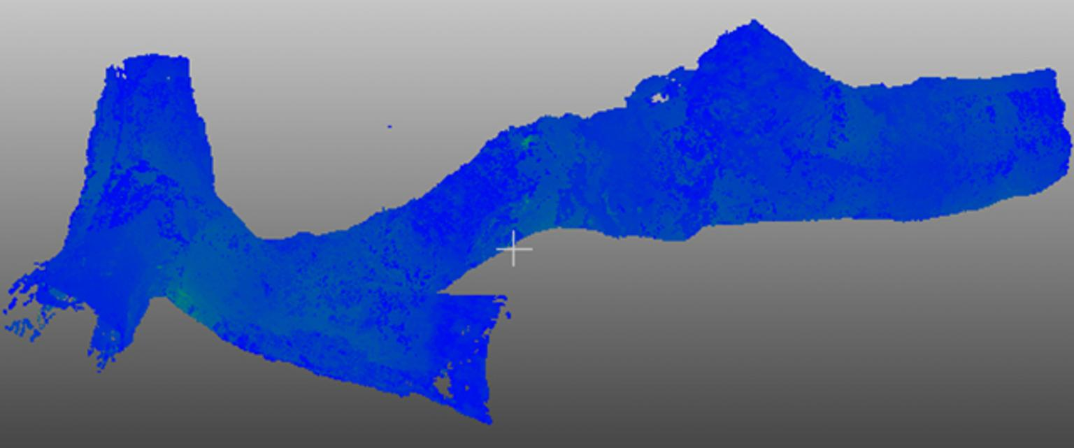 Fig.2. Stationary scans of a mine drilft (multiple scans merged together)