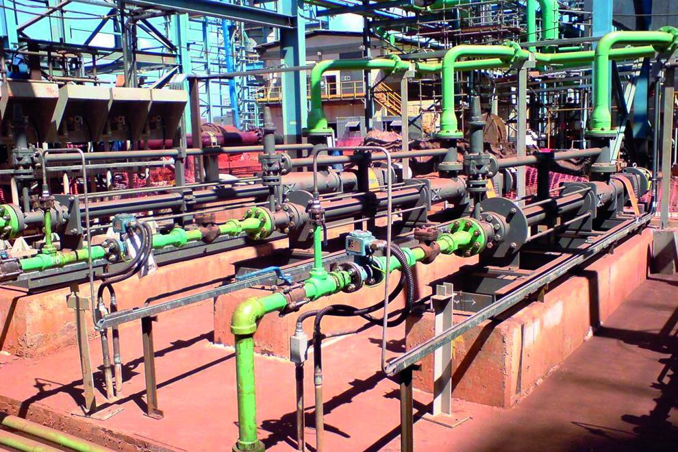 Nemo pump supplying gland seal water at 48 bar to centrifugal pumps