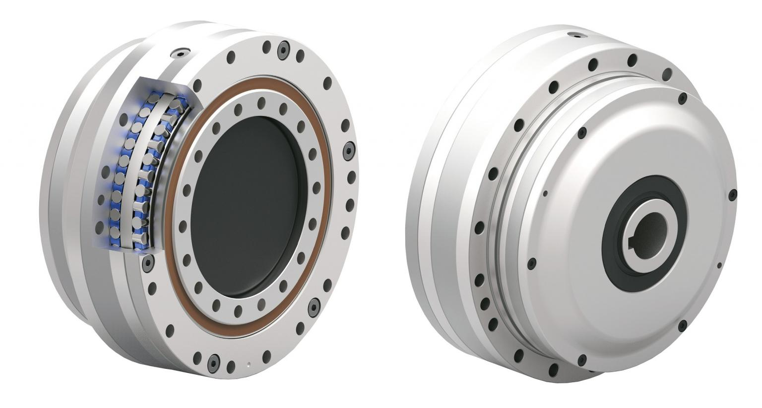 The TwinSpin G-series gear reducer and integrated heavy-duty bearing unit - available from Heason Technology