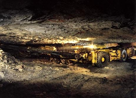 special low-profile jumbo developed by Boart Longyear for use in KGHM's copper mine thin ore bodies in Poland