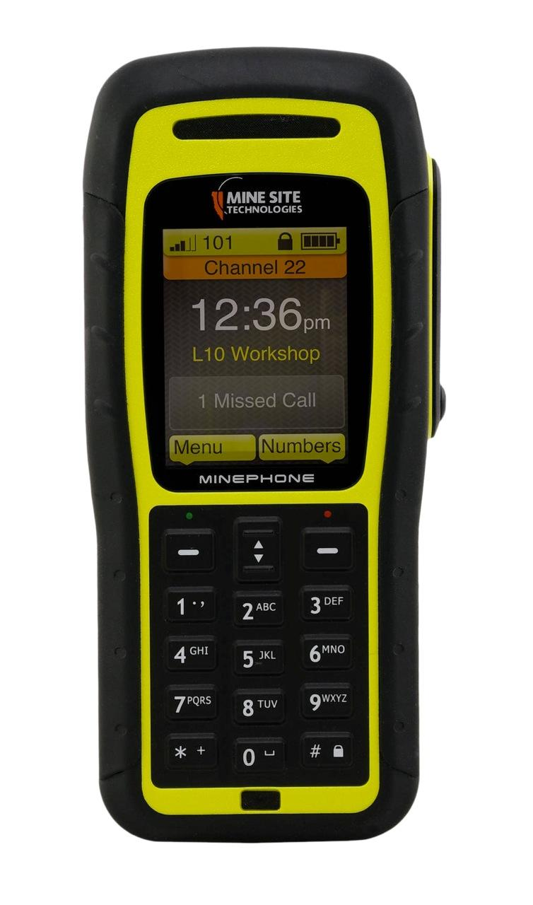 A rugged Internet phone from the Mine Site range, the MP-70, resembles those in  widespread use in surface applications