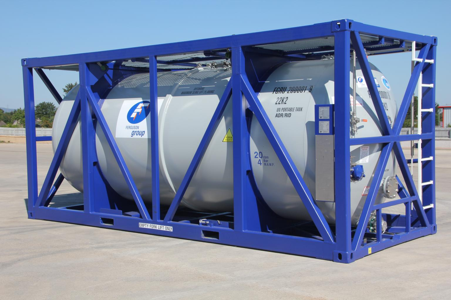 The Ferguson Group uses customer feedback to tailor its solutions, including its offshore tanks