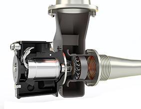Cutaway of the ETC turbo generator