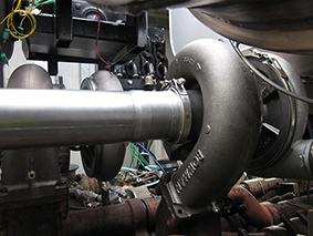 A Bowman turbo charger installation