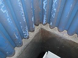 2018 inspection - waterwall near refractory