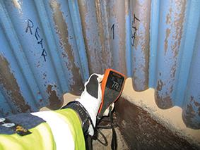 2019 inspection - waterwall near refractory