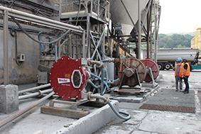A number of Bredel hose pumps transport the slurry