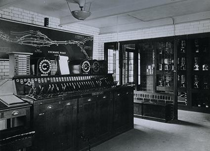 Things have changed in the electronics world.  This is the signalling cabin at Edgeware Road, London in 1926