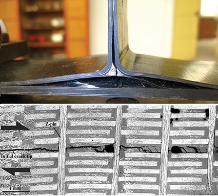 Delamination failure of T-Joints and Z-pins for arresting delamination cracks