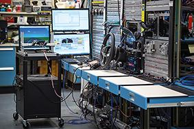 GM's Electrical Integration Lab in Warren, Michigan