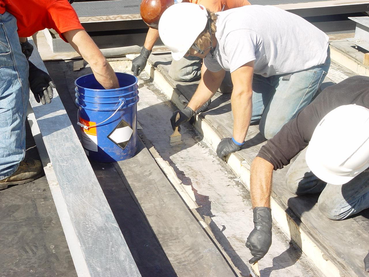 Belzona 4111 used to embed steel beam into the roof