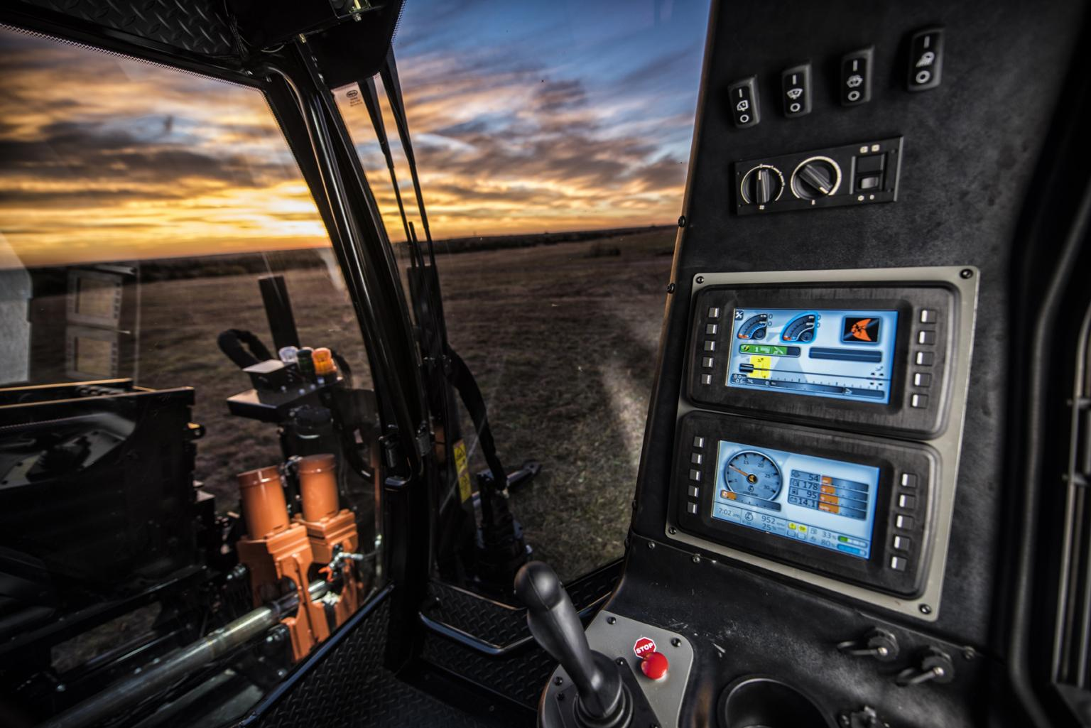 Operator's view inside Ditch Witch's JT40