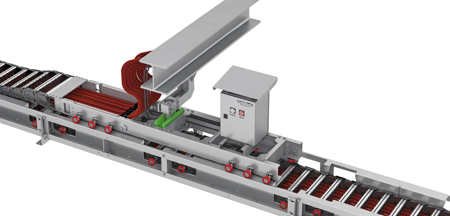 The push and pull force monitoring unit carries out measurements on the drive end connection to prevent total breakdowns