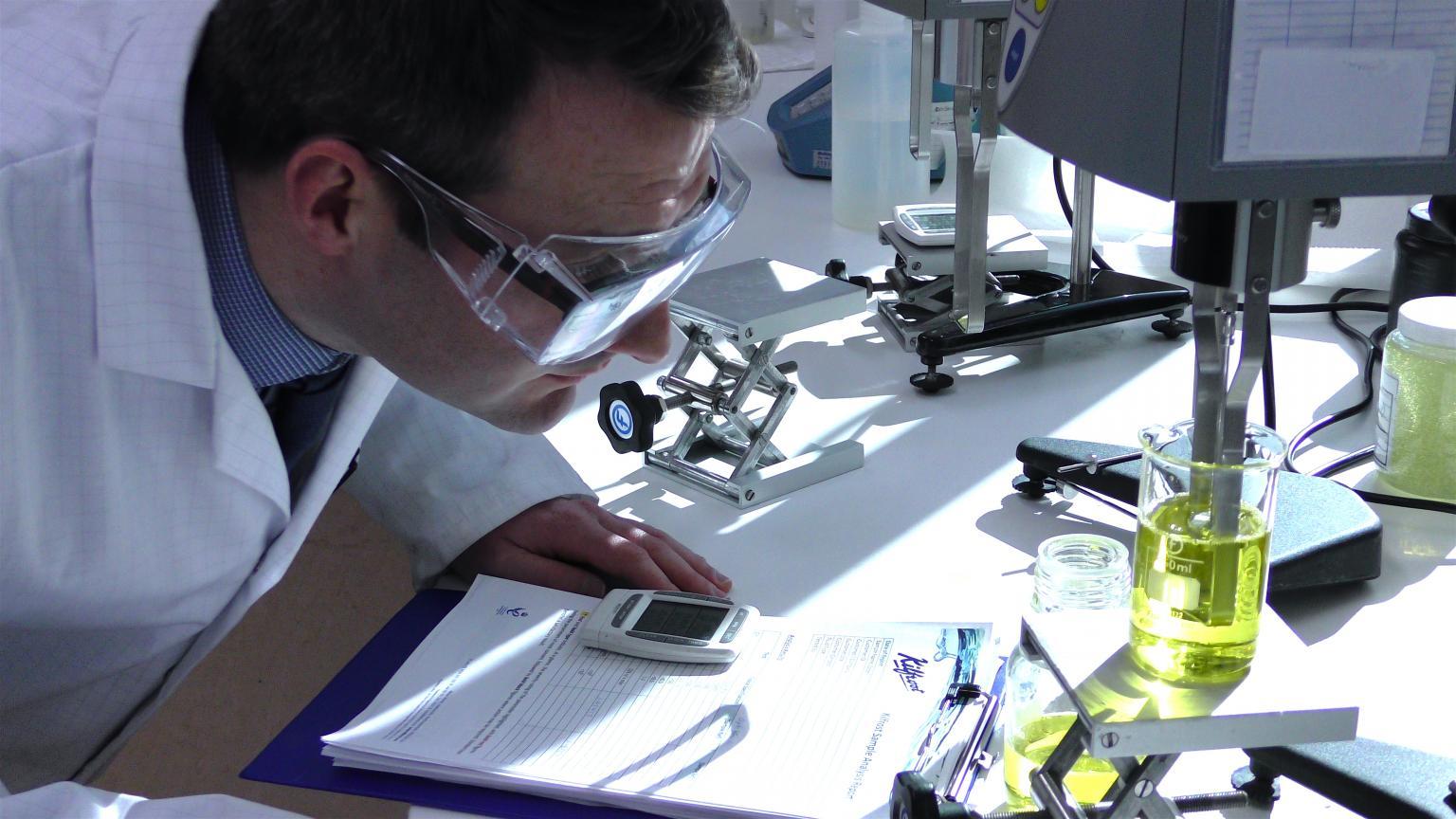 Michael Reynolds at Kilfrost labs